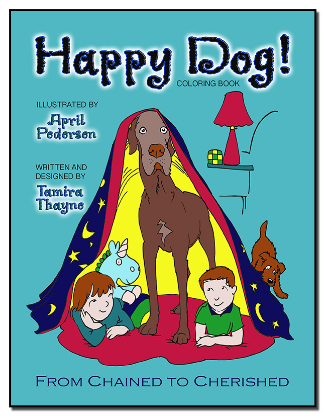 Happy Dog! Coloring Book